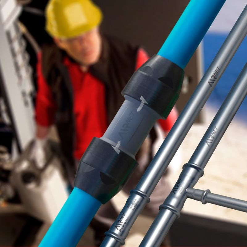 AIRnet, compressed air piping system - Atlas Copco India