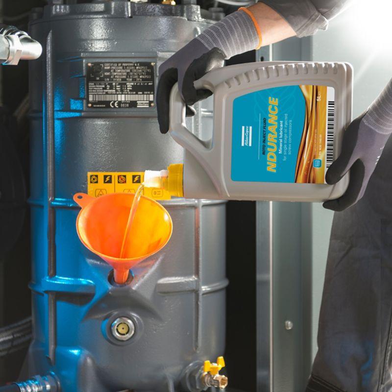 Air compressor oil, lubricants and fluids - Atlas Copco UK