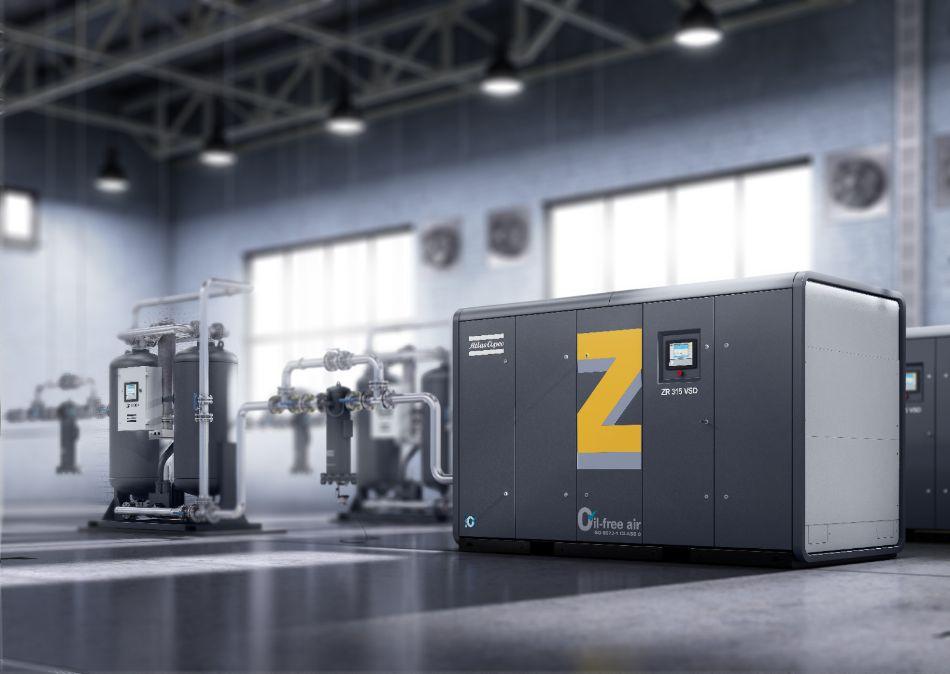 ZR 315 VSD 螺杆式无油空气压缩机