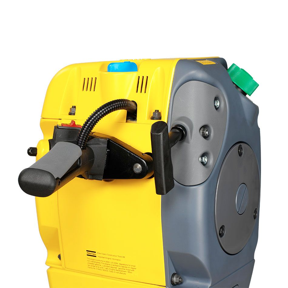 Cobra Combi drill & breaker .The optional guide roller make it easier to pull downwards when it is placed higher up.