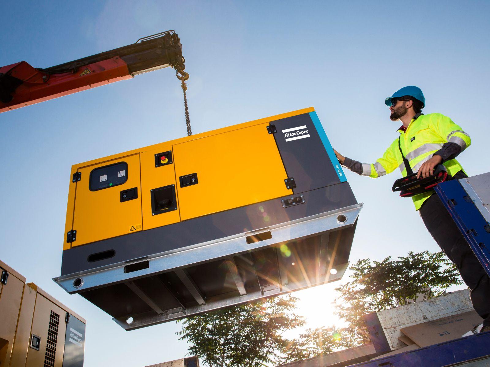 Extended QES generator range Atlas Copco Danmark