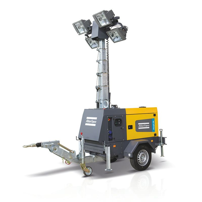 Portable Light Towers For Rent: Metal Halide Light Tower HiLight H4