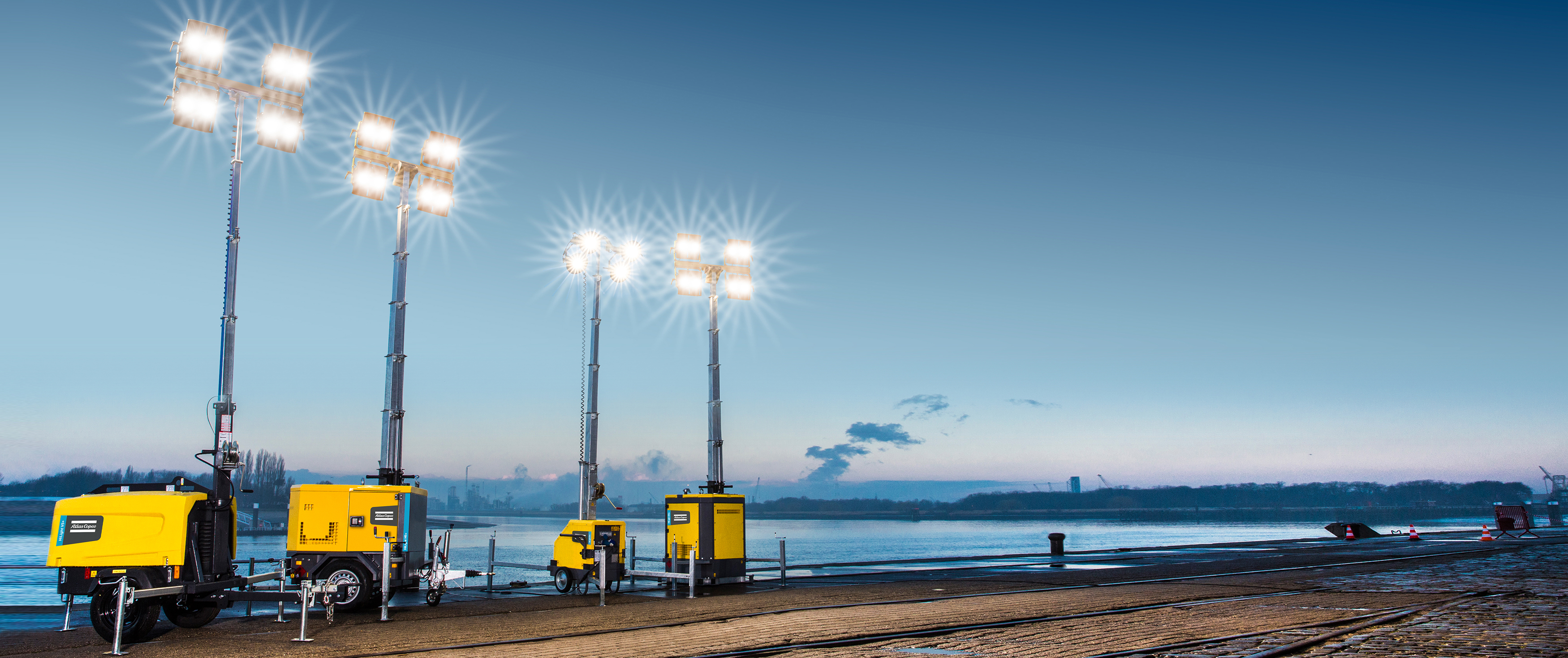 portable light towers; lighting towers; light towers; portable light towers